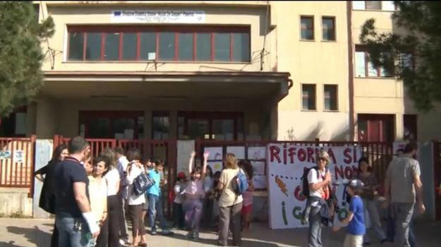 corteo, fiaccolata, Palermo, Piazza verdi, riforma, scuola, Palermo, Cronaca