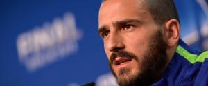 Juventus, Bonucci distorsione alla caviglia: Champions in forte dubbio