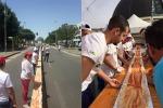 Realizzata in Italia la pizza più lunga del mondo: battuto il record spagnolo - Video