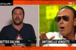 Lite in tv, Venditti a Salvini: fai il politico solo grazie ai soldi degli italiani