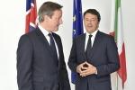Cameron a Renzi: daremo risorse in Sicilia per combattere l'emergenza immigrazione