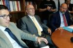 Dario Pagano, direttore amministrativo; il presidente, Calogero Gibiino; l'avvocato Tommaso Tamburino