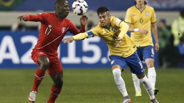 Brasile-Perù, coppa america, girone, Neymar, Sicilia, Sport