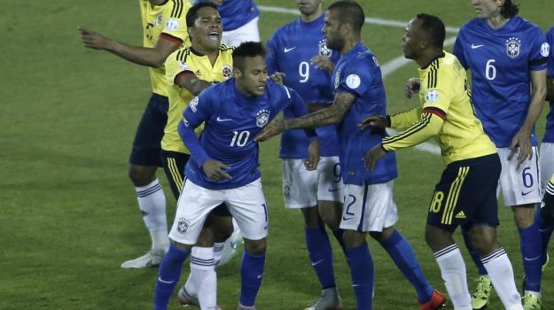 Brasile-Colombia, Calcio, coppa america, gironi, Neymar, Sicilia, Sport