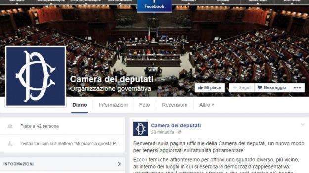 camera deputati, facebook, social, Sicilia, Politica