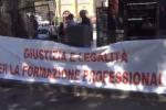 Formazione ed ex Pip, manifestazione in centro a Palermo