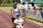 Una maratona contro le barriere: Simone e papà insieme al traguardo