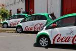 Cento auto elettriche per gli addetti Coca Cola in Sicilia