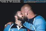 In copertina su SportWeek il bacio gay tra due giocatori di rugby