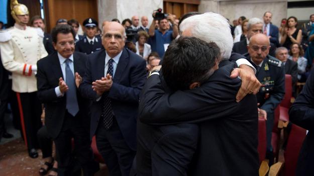 Lucia Borsellino, Manfredi Borsellino, Rosario Crocetta, Sergio Mattarella, Sicilia, Cronaca