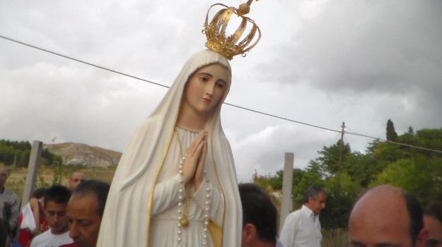 caltanissetta, furto, giallo, Madonnina, statua, Caltanissetta, Cronaca