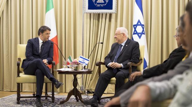 accordo nucleare, Israele, Matteo Renzi, Reuven Rivlin, Sicilia, Politica