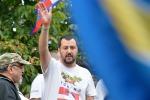 """Salvini: """"Buttafuoco candidato? Lo stimo moltissimo"""""""
