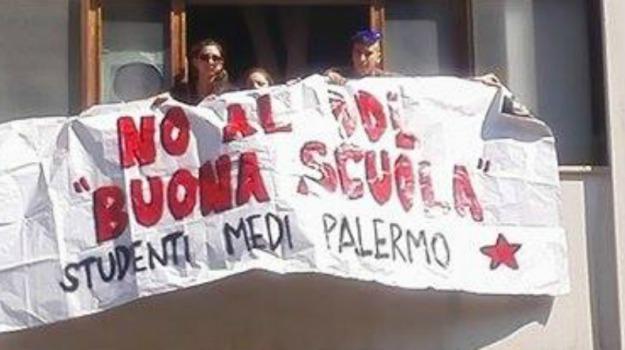 ddl buona scuola, Palermo, proteste, studenti medi, Palermo, Cronaca