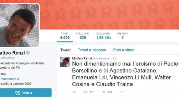 strage via d'amelio, Matteo Renzi, Paolo Borsellino, Sicilia, Palermo, Cronaca