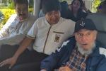 Gli 89 anni di Fidel Castro, il leader all'Avana con i presidenti della Bolivia e del Venezuela - Foto