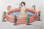 GIUSEPPE VENEZIANO, Innocenti evasioni, installazione, cm 120x350 (Courtesy Galleria Contini), I ART, lgt