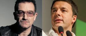 Bono degli U2 e Renzi insieme a Expo contro la fame