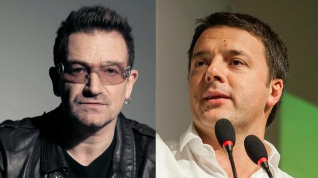 cantante, presidente del consiglio, Bono, Matteo Renzi, Sicilia, Società