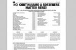 """""""Noi sosteniamo Renzi"""": imprenditori comprano una pagina sul Corriere a favore del premier"""