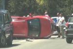 Auto si ribalta in via Villagrazia, nessun ferito ma tanta paura - Video