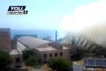 In fumo il tetto del Museo dell'Arte di Catania - Video