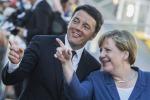 """La Merkel in visita all'Expo: """"L'esposizione mi piace"""""""