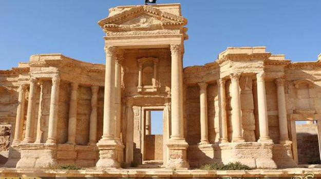 distrutte, Isis, Palmira, Siria, tombe, Sicilia, Mondo