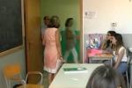 Un'aula dell'istituto Danilo Dolci
