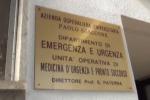 Ricoverato a Palermo, danni al pronto soccorso