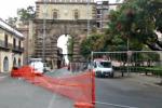 Via il ponteggio da Porta Nuova a Palermo: traffico rivoluzionato nella zona
