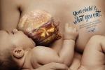 """""""Tuo figlio è ciò che mangi tu"""", campagna choc contro cibo-spazzatura"""