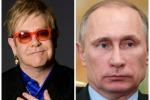 """Elton John vuole incontrare Putin: """"Discutiamo dei diritti dei gay"""""""