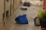 Maltempo, allarme rosso in Sicilia: a Giardini Naxos auto spazzate dall'acqua - Video