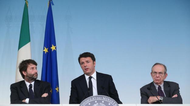 crescita, def, governo, Matteo Renzi, Pier Carlo Padoan, Sicilia, Economia