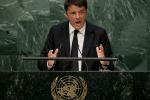 """Renzi all'Onu: """"Stupiamo il mondo, saremo più forti della Germania"""""""