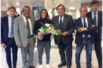 Roberta Vinci all'aeroporto di Palermo dopo gli Us open - Foto