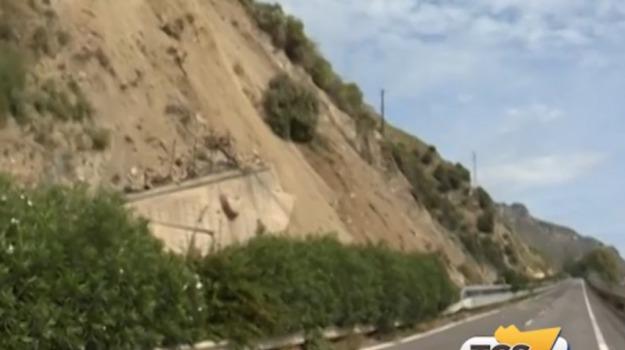frana autostrada, Messina-Catania, Messina, Cronaca