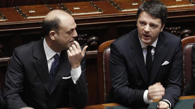 area popolare, governo, partito democratico, pd, Angelino Alfano, Matteo Renzi, Sicilia, Politica