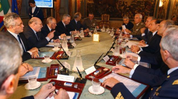 Consiglio supremo di difesa, giubileo, governo, italia, terrorismo, Sicilia, Mondo