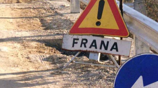 frana ss 122, Caltanissetta, Cronaca