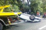 Scontro tra due auto sulla Catania-Messina: un ferito grave