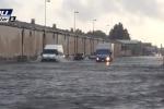 Nubifragi a Catania, allagamenti e auto bloccate - Il video