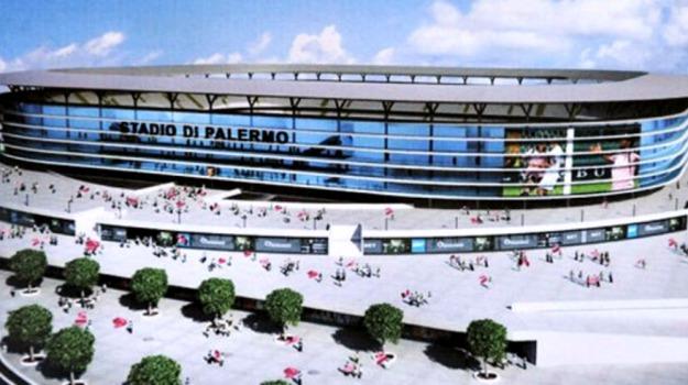 nuovo stadio palermo, palermo calcio, SERIE A, Emilio Arcuri, Leoluca Orlando, Maurizio Zamparini, Palermo, Cronaca