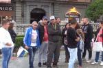 Protesta dei senza casa davanti alla Cattedrale di Palermo