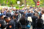 Una protesta dei Forestali