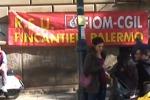 Fincantieri, a Palermo la protesta dei lavoratori