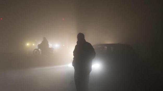 Aeroporto, nebbia, volo, Sicilia, Mondo