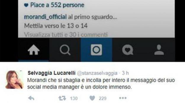 blogger, cantante, Gianni Morandi, Selvaggia Lucarelli, Sicilia, Società