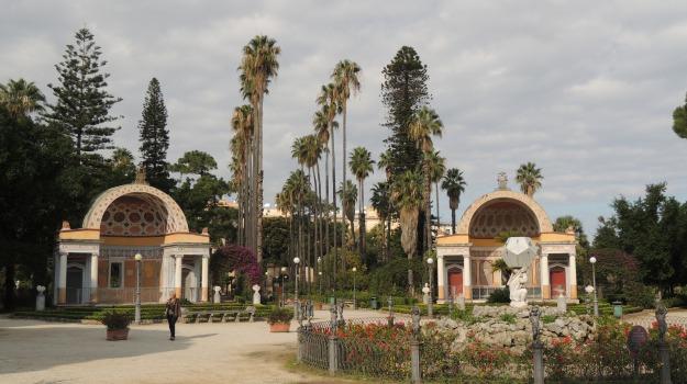 statue, verde, villa, Palermo, Cultura